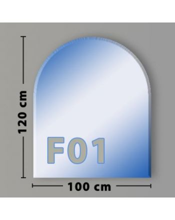 Rundbogen F01 Funkenschutzplatte Glasbodenplatte aus Sicherheitsglas