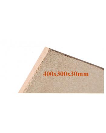 Vermiculite-Platte | Brandschutzplatte 400x300x30mm | Schamotte-Ersatz