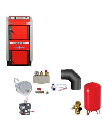 ATMOS GS25 Scheitholzvergaser Holzvergaserkessel   Komplettset 1