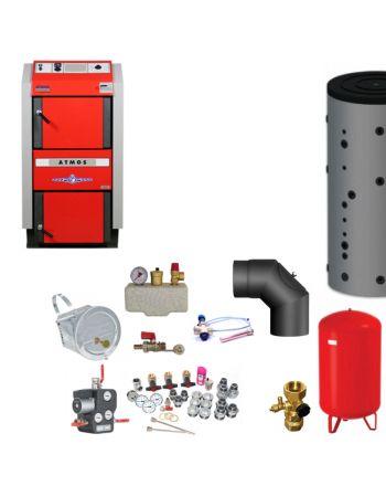 ATMOS GS40 Scheitholzvergaser Holzvergaserkessel | Komplettset 2