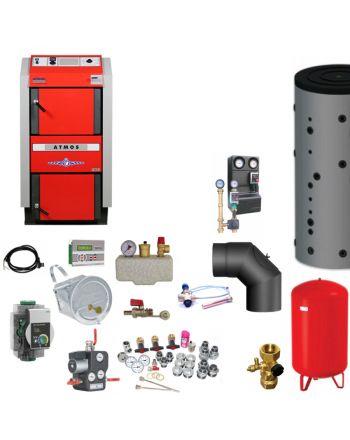ATMOS GS25 Scheitholzvergaser Holzvergaserkessel | Komplettset 3