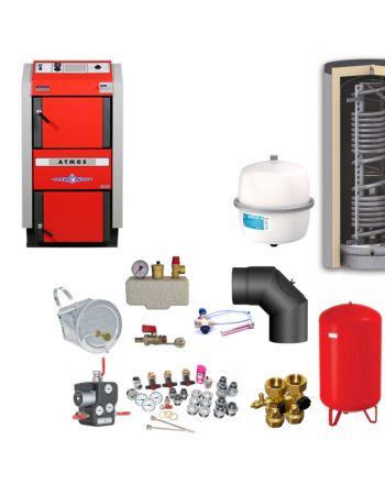 ATMOS GS40 Scheitholzvergaser Holzvergaserkessel | Komplettset 4