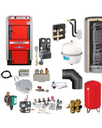 ATMOS GS25 Scheitholzvergaser Holzvergaserkessel | Komplettset 5