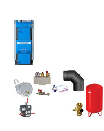 Atmos GSX50 Bafa Scheitholzvergaser | 49 kW | Komplettset 1