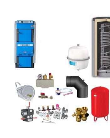 Atmos GSX50 Bafa Scheitholzvergaser | 49 kW | Komplettset 4