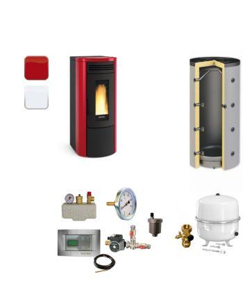 Extraflame Pelletofen Costanza Idro | BAFA | Heizungsset | 17 kW