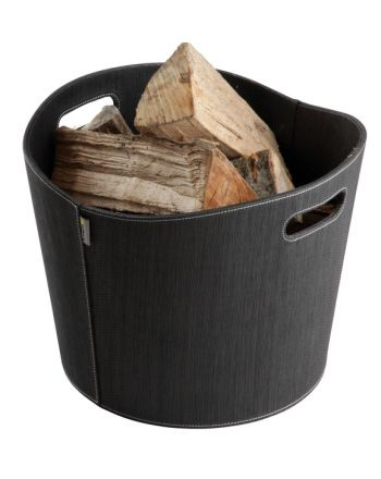 Aduro | Proline Holzkorb aus PET | schwarz | Ø 39cm