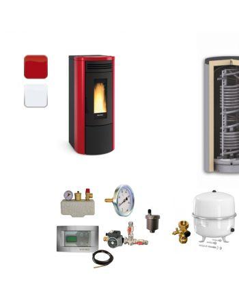 Extraflame Pelletofen Costanza Idro | BAFA | Hygieneset | 17 kW