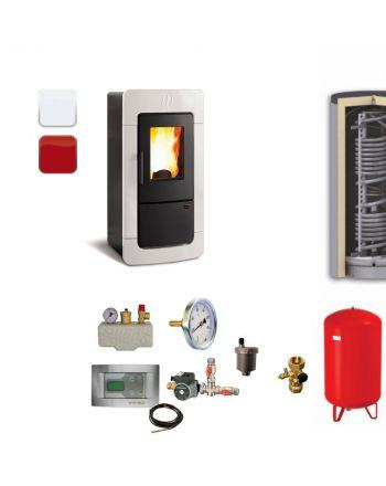 Extraflame Pelletofen Diadema Idro | BAFA | Hygieneset | 28 kW