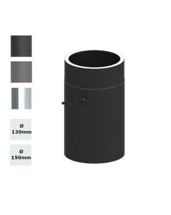 Jeremias Ofenrohr Längenelement 300mm+Drosselklappe | konfigurierbar