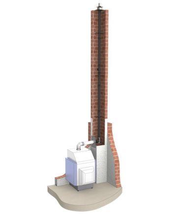 Abgassystem für Brennwertgeräte Komplettset Ø 60/100 mm