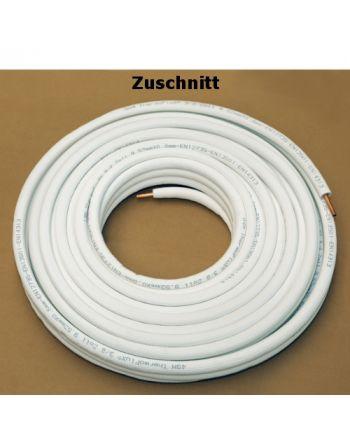 Kältemittelleitung Isoliert Klimarohr Doppelrohrleitung 1/4 3/8 Zoll