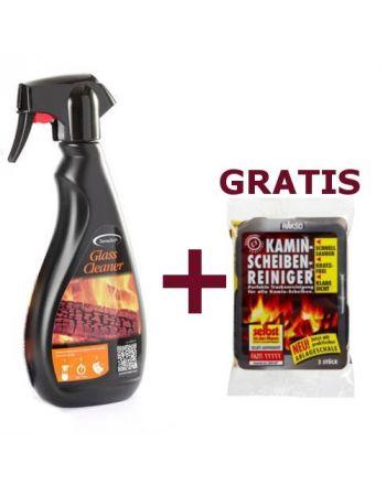 Kaminscheiben Glasreiniger 500 ml + Gratis RAKSO Kaminscheibenreiniger