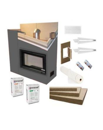 Kaminverkleidung Kaminbausatz - Komplett SET 2 klein | weiß
