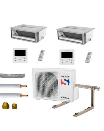Klimaanlage Komplettset Multisplit Sinclair Kanalgeräte 2x2,5kW