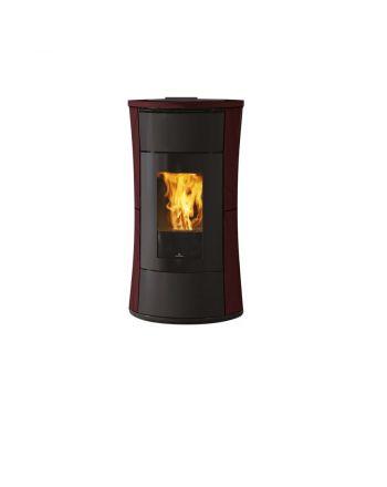 Edilkamin Pelletofen Cherie 9 Evo | Keramik bordeaux | 9,3 kW