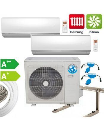 Mundoclima Klimaanlage – Set mit 2x3,5KW Wandgeräten und Außengerät