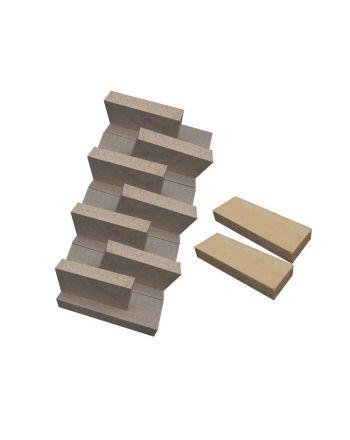 Komplettes Set Labyrinthsteine für Pelletskessel Orligno 100