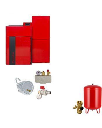 Thermoflux Pelletkessel Pellflux Lambda 24 | BAFA | 24 kW | Komplettset 1