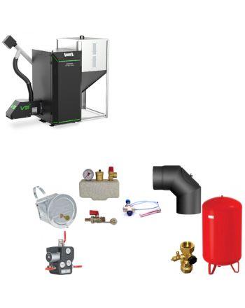 Kostrzewa Twin Bio Luxury | Pelletkessel BAFA | 24 kW | Komplettset 1