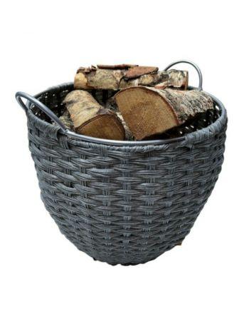 TermaTech | Holzkorb, Kunststoff mit Futter | Ø 380 mm | hellgrau