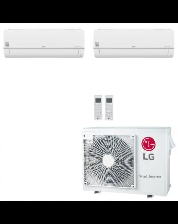 LG Multisplit Klimaanlage Wandgerät oder Deckenkassette 2x4,2kW