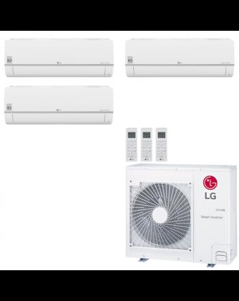 LG Multisplit Klimaanlage Wandgerät Deckenkassette 2x2,1kW + 4,2kW