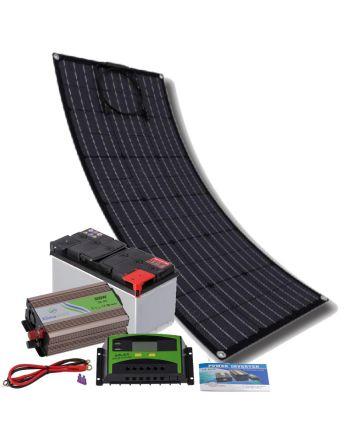 Solar Inselanlage | flexibles Set 300W | Strom erzeugen und speichern