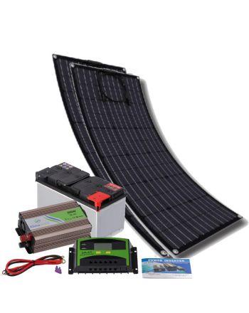 Insel Solaranlage | flexibles Komplettset 300 Watt | Quick-Charge