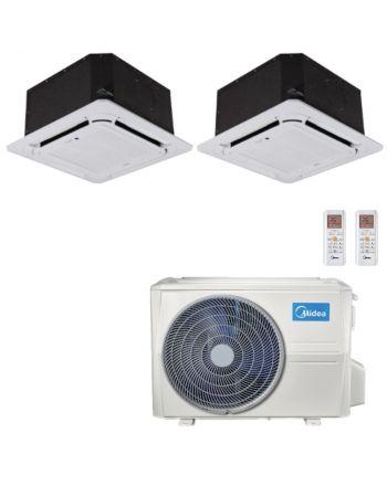 Midea Multisplit Klimaanlage Deckengerät 1x2,6kW und 1x5,3kW