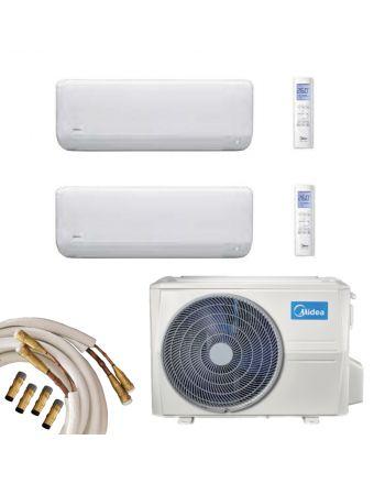 Midea Multisplit Klimaanlage 2x Wandgerät 2,7 und 3,5kW Quick-Connect