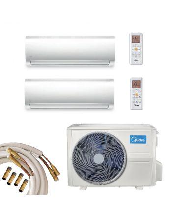 Midea Multisplit Klimaanlage 2x Wandgerät 3,5kW | 5,3kW Quick-Connect