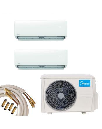 Midea Multisplit Klimaanlage 2x Wandgerät 2,8 | 3,6kW Quick-Connect