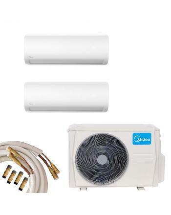Midea Multisplit Klimaanlage 2x Wandgerät 5,3kW Quick-Connect