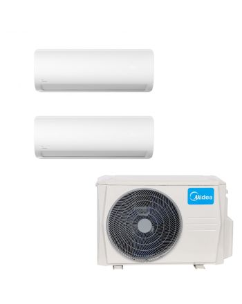 Midea Multisplit Klimaanlage Paket 2x Wandgerät 5,3kW