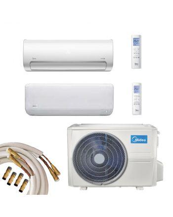 Midea Multisplit Klimaanlage 2x Wandgerät 2,7 und 5,3kW Quick-Connect