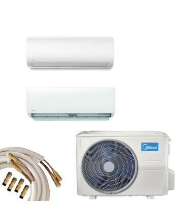 Midea Multisplit Klimaanlage 2x Wandgerät 2,8 und 5,3kW Quick-Connect