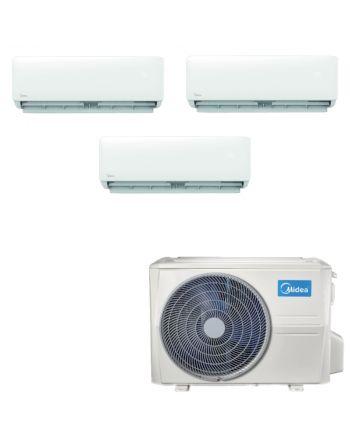 Midea Multisplit Klimaanlage Paket 3x Wandgerät 2,8kW