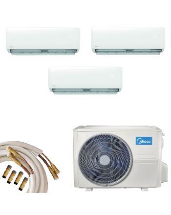Midea Multisplit Klimagerät 3x Wandgerät 2,8kW | Quick-Connect