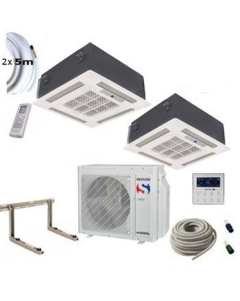 Klimaanlage Komplettset Multisplit Sinclair Deckenkassette 2x4,5kW R32