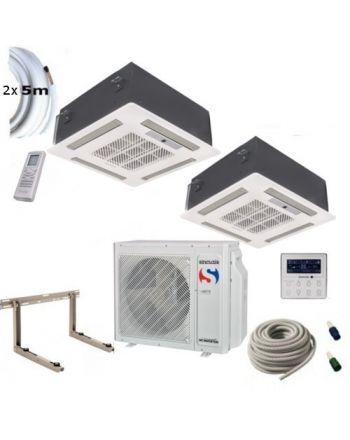 Klimaanlage Komplettset Multisplit Sinclair Deckenkassette 2x7,1kW