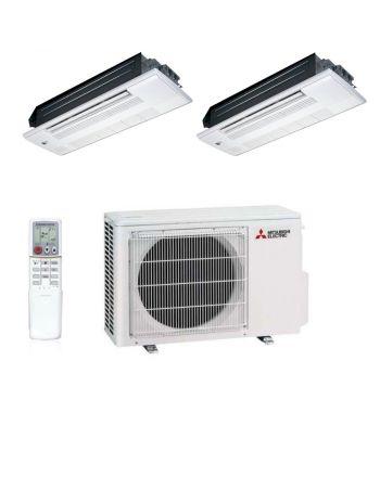 Mitsubishi   Multisplit- Klimaanlage   2x 2,5 kW Deckenkassette   VF53