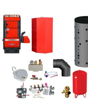 Atmos P50 BAFA geförderter Pelletkessel Holznotbetrieb | Komplettset 2