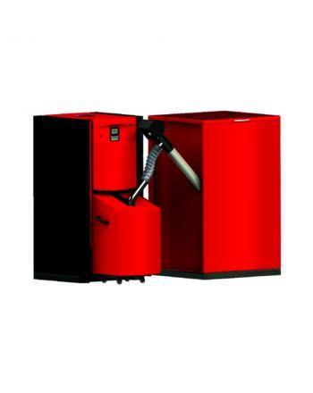 Pelletheizung PellFlux 15kW   500 Liter Behälter   BAFA förderfähig