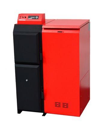 Pelletkessel Pelling 50 ECO mit 47 kW - 110 kg Behälter RECHTS