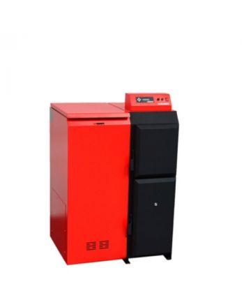 Pelletkessel Pelling 50 ECO - 185 kg Behälter LINKS