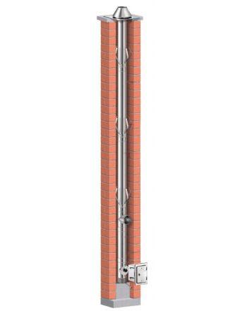 Schiedel Prima Plus Ø 113 mm Schornsteinsanierung Bausatz - 6,38m