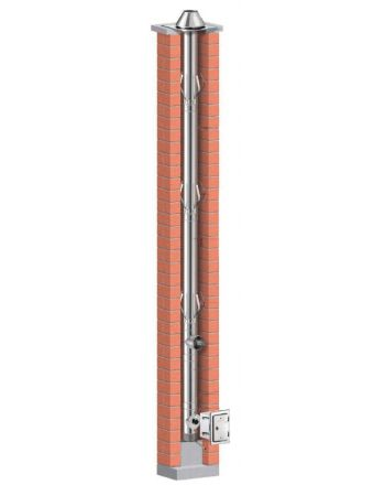 Schiedel Prima Plus Ø 113 mm Schornsteinsanierung Bausatz - 10,18m