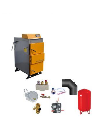 Santer Solar BAFA Holzvergaser Profi Proburner 60 KW ✔ Komplettset 1