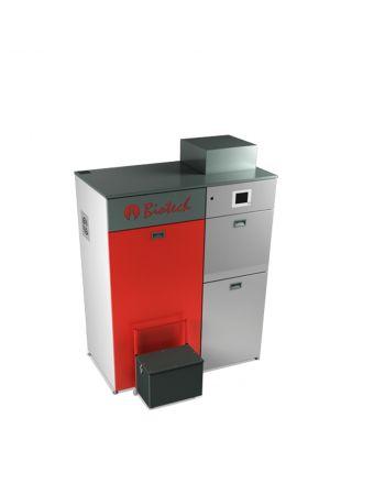 Biotech Bafa Pelletsheizkessel ✔ PZ50RL automatische Befüllung 49 kW ✔